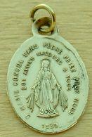 Med-561 Médaille En Laiton Ô Marie Conçue Sans Péché - Religione & Esoterismo