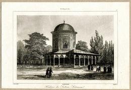 Mausoleum Suleiman Magnificent Kanunî Sultan Süleyman Architecture Istanbul Ottoman Empire Turkey Antique Engraving 1840 - Estampas & Grabados