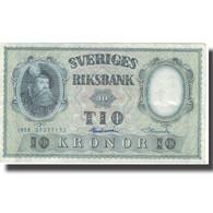 Billet, Suède, 10 Kronor, 1958, 1958, KM:43e, TB+ - Svezia