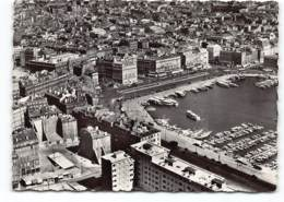 MARSEILLE -  Vue Aerienne Du Vieux Port Et Du Quai Des Belges.  Société Editions De France.  CPSM GF - Marseille