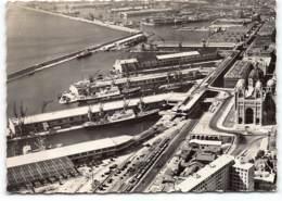 MARSEILLE -  Vue Aerienne Des Ports.  Le Bassin De La Joliette Et Cathedrale Société Editions De France.  CPSM GF - Marseille