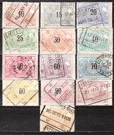 TR15/27  Chiffres Noirs - Série Complète - Oblit. - Vendu à 10% Du COB!!!! - 1895-1913