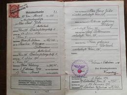 WW2 LIVRET DE FAMILLE Février 1940 Deutsches Einheits Familienstammbuch ALOIS KAROLINE - 1939-45