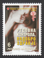 Macedonia 2006 Cancer Red Cross Croix Rouge Rotes Kreuz Tax Charity Surcharge, MNH - Macedonia