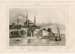 Pavilion Of The Pearls Indjouli Kiochk Architecture Istanbul Ottoman Empire Turkey Antique Engraving 1840 - Estampas & Grabados
