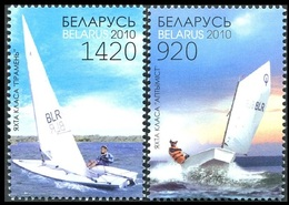 365 - Belarus - 2010 - Sport Sailboats Sailing Yachts - 2v - MNH - Lemberg-Zp - Belarus