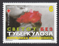 Macedonia 2006 TBC Red Cross Croix Rouge Rotes Kreuz Tax Charity Surcharge, MNH - Macedonia