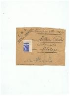 USINE L. M . A . à BERLAIMONT (NORD) SERVICE INTERIEUR PERSONNEL  1927 - Marcophilie (Lettres)