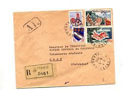 Lettre Recommandée Audrieu Sur Coq Touquet - Marcophilie (Lettres)
