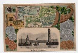 - CPA MONNAIES - Pièces Et Billets D'Allemagne - Lindau - Hefeneinfahrt - Verlag Guggenheim 5818 - - Monete (rappresentazioni)