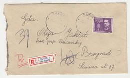 Yugoslavia, Letter Cover Registered Posted 1945 Zagreb To Beograd B200601 - 1945-1992 République Fédérative Populaire De Yougoslavie