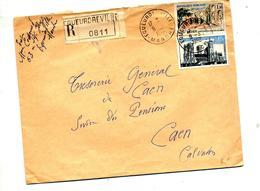 Lettre Recommandée  Equeurdreville Sur Medea Laon - Marcophilie (Lettres)