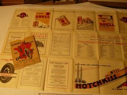2 Cartes Routière Du Service Géo De L'armée. Paris Nord/Sud. 1930. Publicité: Dunlop, Shell, Societé Générale, Hotchkiss - Advertising