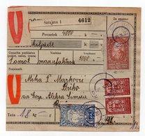1920 KINGDOM OF SHS BOSNIA,SARAJEVO TO BRCKO, PARCEL CARD,18 KG - 1919-1929 Kingdom Of Serbs, Croats And Slovenes