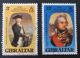 LORD NELSON 1980 - OBLITERES - YT 411 + 413 - Gibraltar