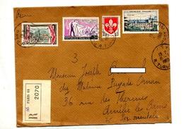 Lettre Recommandée Paris 68 Sur Bourboule Ecole Blois - Marcophilie (Lettres)