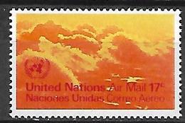 NATIONS UNIES  /   ONU  -  Poste Aérienne  -  1972.   Y&T N° 17 **.  Vue  D' Avion - Poste Aérienne