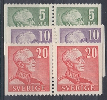 +Sweden 1939-41. Three Pairs. MH(*) - Sweden