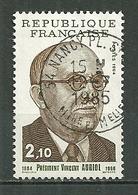 FRANCE Oblitéré 2344 Vincent Auriol Président - Frankreich