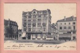 OUDE POSTKAART ZWITSERLAND - SCHWEIZ -     TRAM - CORSOTHEATER  1900'S - ZH Zurich