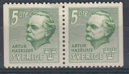 +Sweden 1941. Hazelius. Pair. Michel 286. MH(*) - Sweden