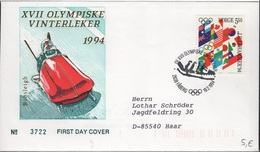 JO94-H/L2 - NORVEGE FDC Jeux Olympiques LILLEHAMMER 1994 - FDC