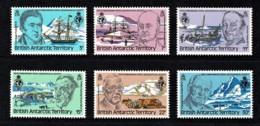 British Antarctic 1980 Geographical Society Set Of 6 MNH - British Antarctic Territory  (BAT)