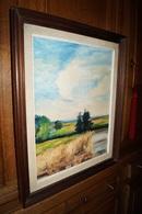 Huile Sur Toile,peinture Signé Lamerch 71,avec Son Encadrement,62 Cm. Sur 52 Cm. - Oils