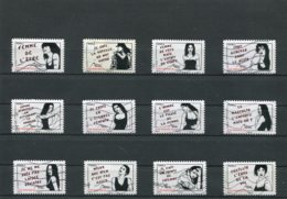 FRANCE AUTOADHESIFS N° 538 A 549   (Y&T) (Oblitéré) - Adhesive Stamps
