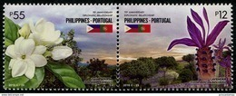 Philippines (2016) - Set -  /  Diplomatic Relations With Portugal -  Joint Issue - Flowers - Fiori - Fleurs - Gemeinschaftsausgaben