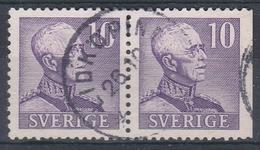 +Sweden 1939. King Gustav V. Pair. Michel 256 IIB/Dr. Cancelled - Sweden