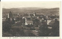 ANNECY      (  HAUTE SAVOIE )    PANORAMA VU DU MONASTÈRE DE LA VISITATION - Annecy