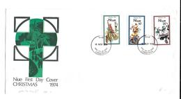 Niue FDC 1974 Christmas Bicycle Fiets Velo Fahrrad - Wielrennen