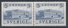 +Sweden 1941. Royal Castle. Pair. Michel 285D. MNH(**) - Sweden