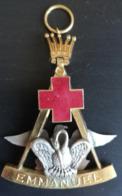 Décoration (pendentif) Chevalier Rose Croix Double Face - Freimaurerei
