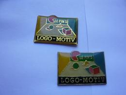 Lot 2 Pin S LE PIN S LOGO MOTIV  Different - Badges