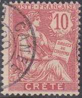 Crète (île De) Bureau Français - N° 06 (YT) N° 6 (AM) Oblitéré. - Creta (1902-1903)