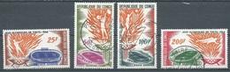 Congo Poste Aérienne YT N°21/24 Jeux Olympiques De Tokyo 1964 Oblitéré ° - Kongo - Brazzaville