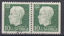 +Sweden 1948. King Gustav V. Pair. Michel 343. Used - Sweden