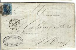 FRANCE 1901: LAC De Bruxelles Pour Mons Avec Le Y&T 11, Obl. Chiffre 24 - 1849-1850 Médaillons (3/5)