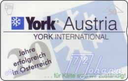 """TWK Österreich Privat: """"York Austria, 20 Jahre - 50E"""" Gebr. - Oesterreich"""