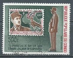 Congo Poste Aérienne YT N°134 Général De Gaulle Oblitéré ° - Oblitérés