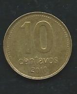 Argentina 2010, 10 Centavos  Laupi 12301 - Argentine