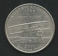 USA, 2001, Circulated Coin , Quarter, North Carolina  Laupi 12302 - Federal Issues