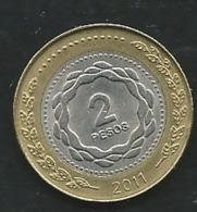 ARGENTINA 2011: 2 Pesos, Laupi 12305 - Argentine