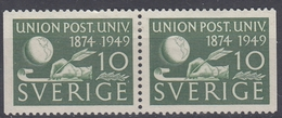 +Sweden 1949. UPU. Pair. Michel 351. MH(*) - Sweden