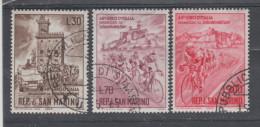 Saint Marin   1965 N° 642 / 44  Série Compl. Oblitéré  3 Valeurs - Oblitérés