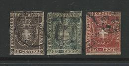 1860 TOSCANA - Stemma Di Savoia - N. 19 / 21 Usati - Cat. 1020 € - Antichi Stati - Vendita A Meno Del 5 % - L 464 - Toscane