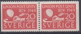 +Sweden 1949. UPU. Pair. Michel 352. MH(*) - Sweden