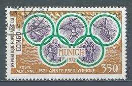 Congo Poste Aérienne YT N°124 Année Préolympique 1971 Munich Oblitéré ° - Oblitérés